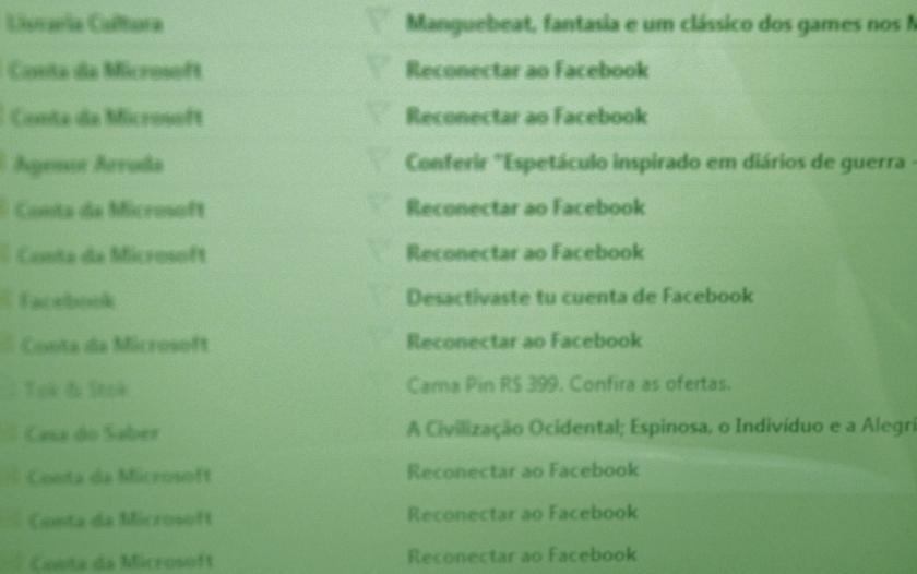 reconectar ao facebook